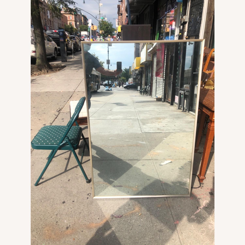 Vintage 1970s Metal Framed Wall Mirror - image-1