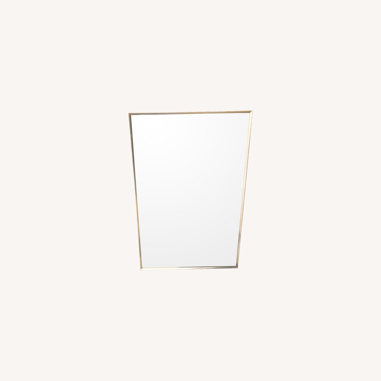 Vintage 1970s Metal Framed Wall Mirror - image-0