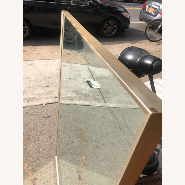 Vintage 1970s Metal Framed Wall Mirror - image-3