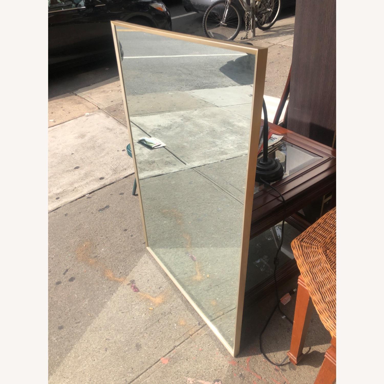 Vintage 1970s Metal Framed Wall Mirror - image-2