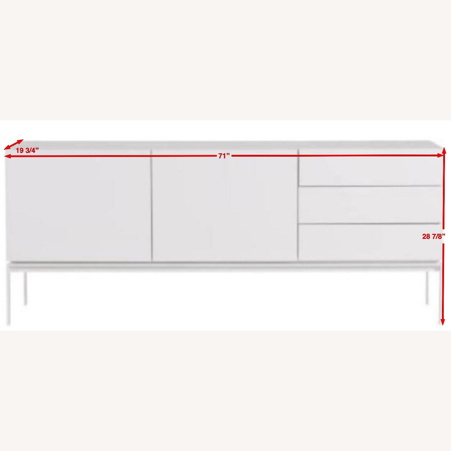 White Lacquer Sideboard - image-12