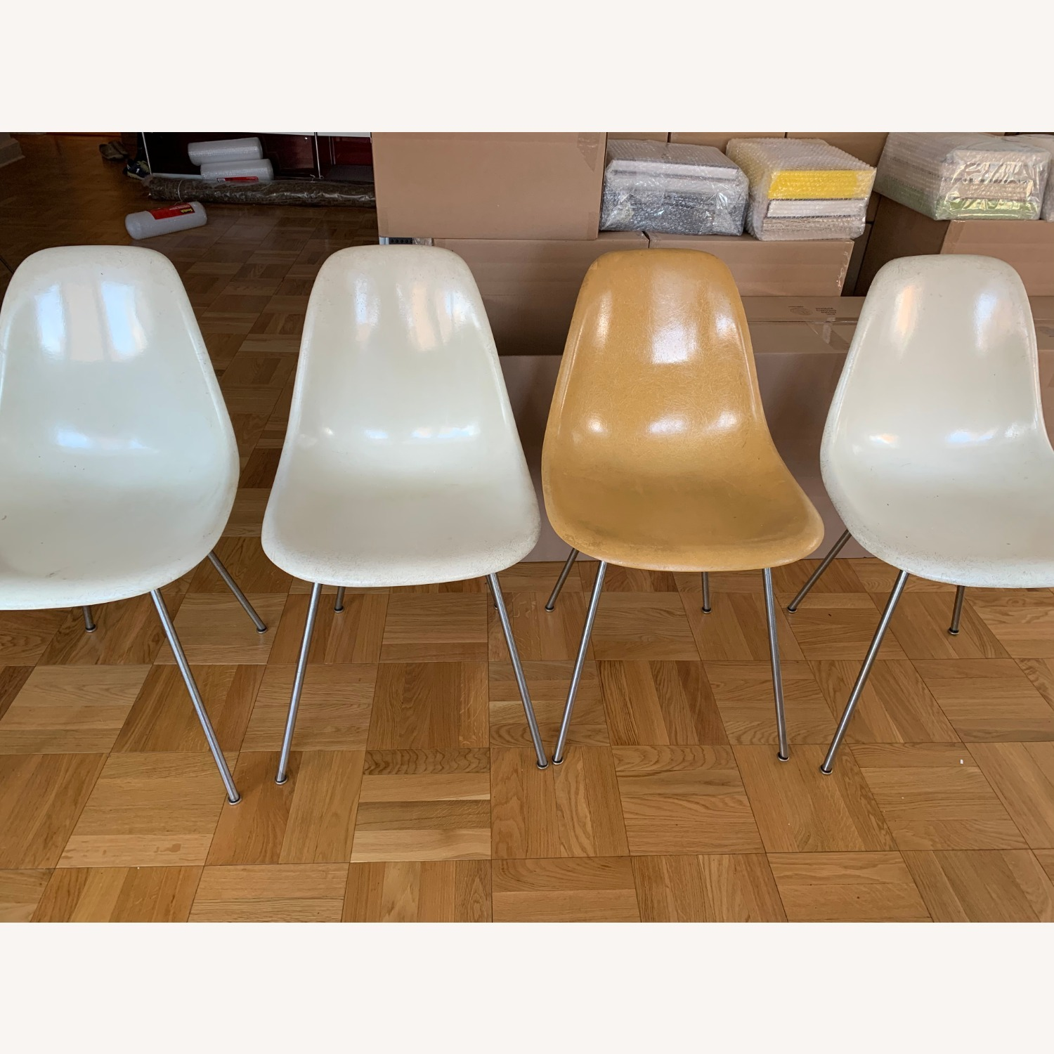 Set of 4 Case Study Chairs (Eames schoolchairs) - image-4
