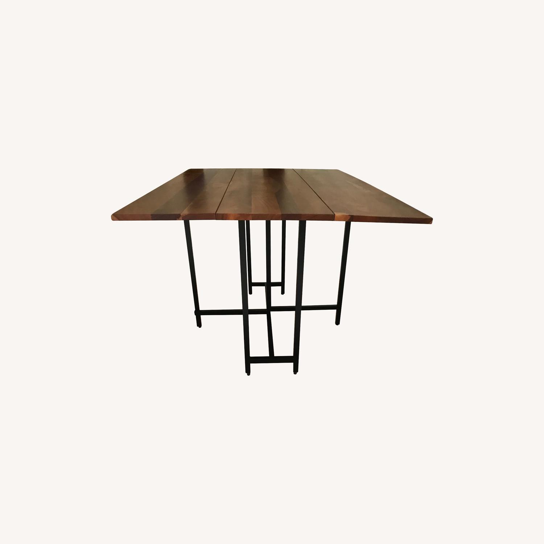 Crate & Barrel Origami Drop Leaf Rectangular Dining Table - image-0