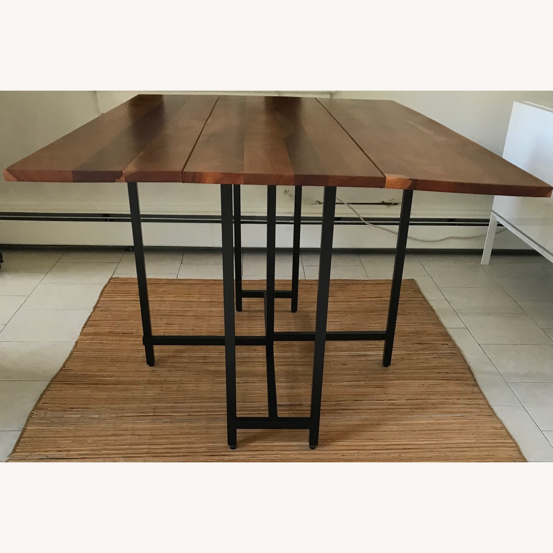Crate & Barrel Origami Drop Leaf Rectangular Dining Table - image-1