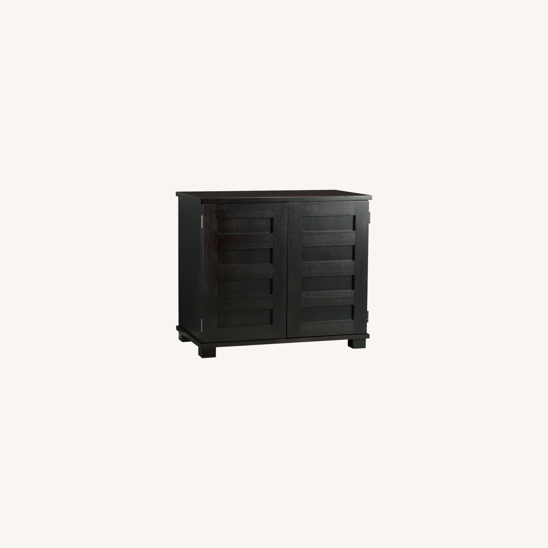 Crate & Barrel Ebony Wood Compact Office - image-3