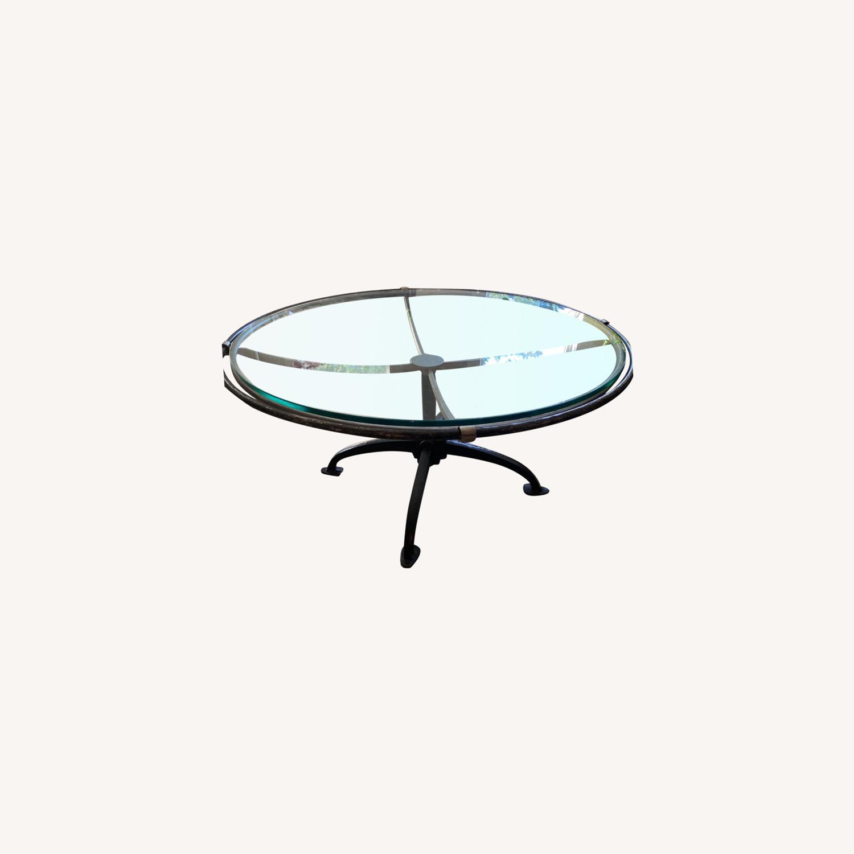 Arhaus Metal /Glass Coffee Table - image-0