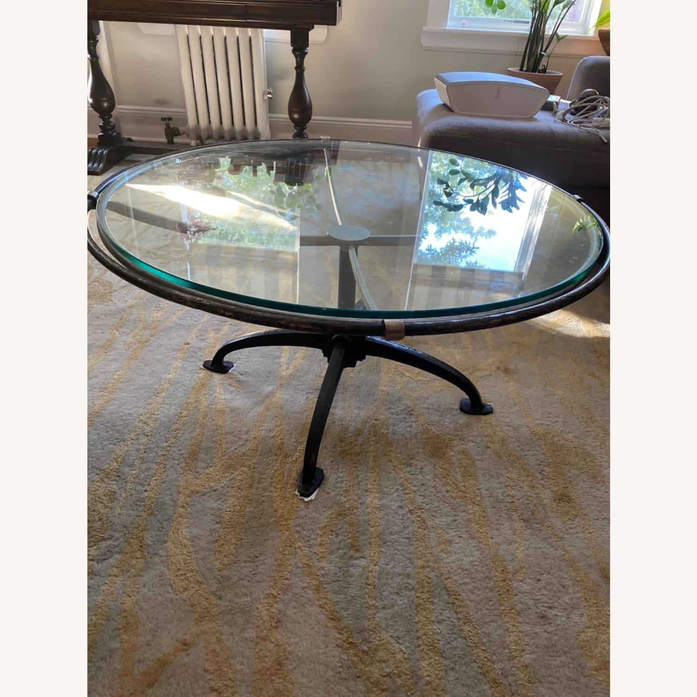 Arhaus Metal /Glass Coffee Table - image-2