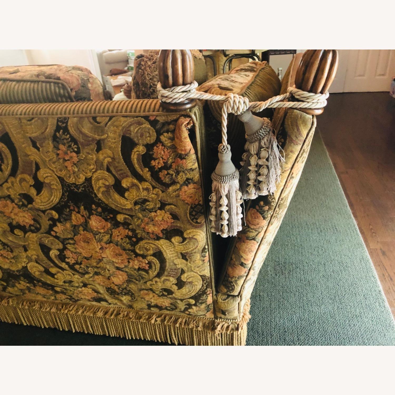 Vintage Paisley Wing Arm Sofa - image-2