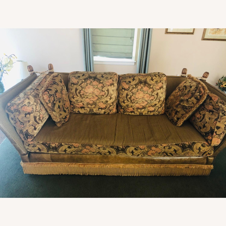 Vintage Paisley Wing Arm Sofa - image-1