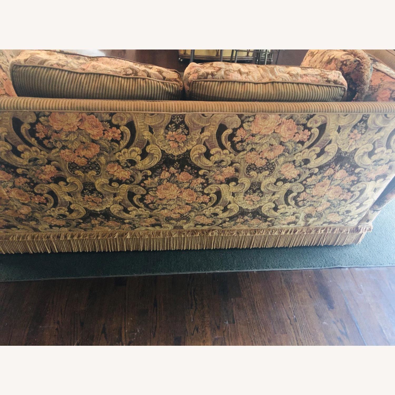 Vintage Paisley Wing Arm Sofa - image-3