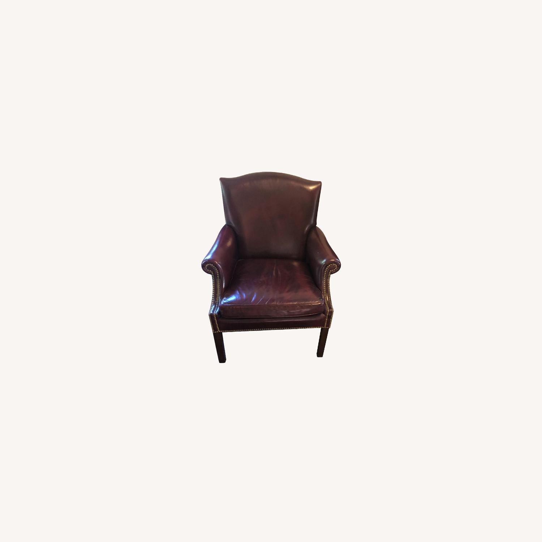 Hancock & Moore Glazed Leather Chairs - image-0