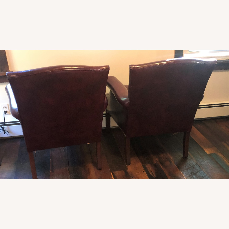 Hancock & Moore Glazed Leather Chairs - image-7