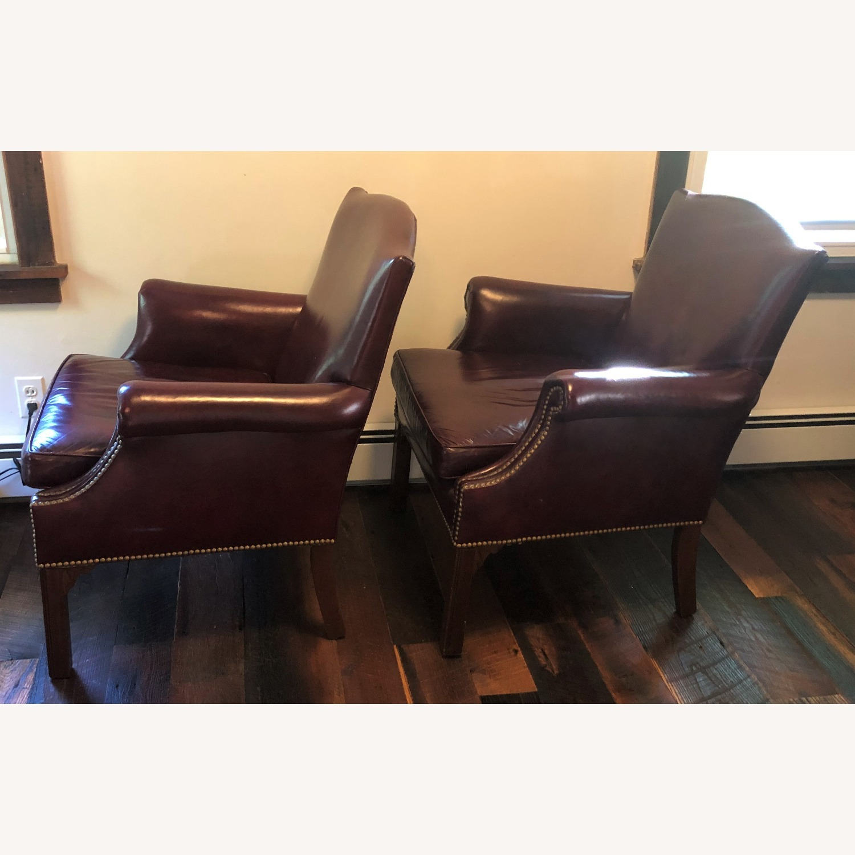 Hancock & Moore Glazed Leather Chairs - image-2