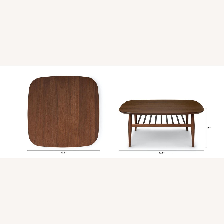 Article Walnut Lenia Square Oak Coffee Table - image-6