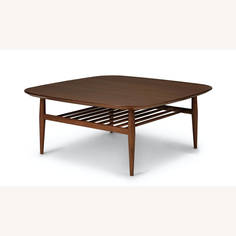 Article Walnut Lenia Square Oak Coffee Table - image-5