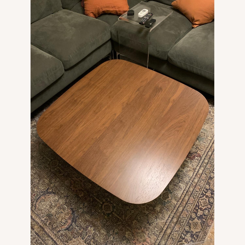 Article Walnut Lenia Square Oak Coffee Table - image-1