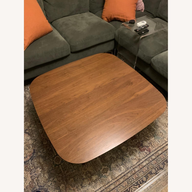 Article Walnut Lenia Square Oak Coffee Table - image-4