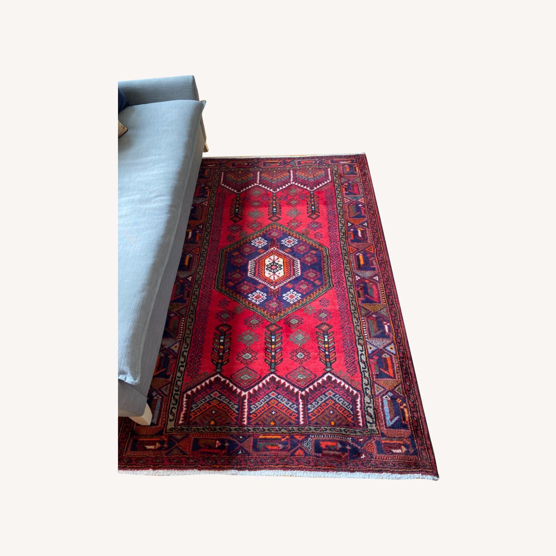 Vintage Red Wool Rug - image-0