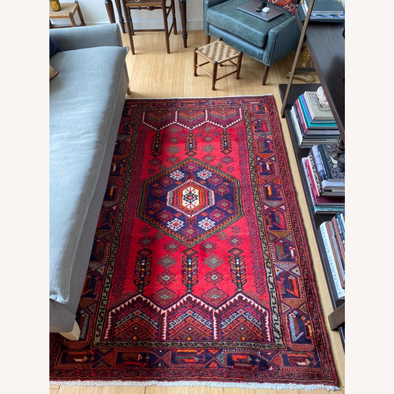 Vintage Red Wool Rug - image-1