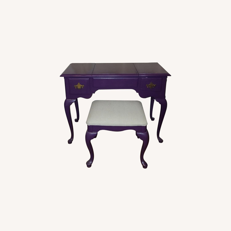 Stanley Furniture Wood Vanity Desk - image-0
