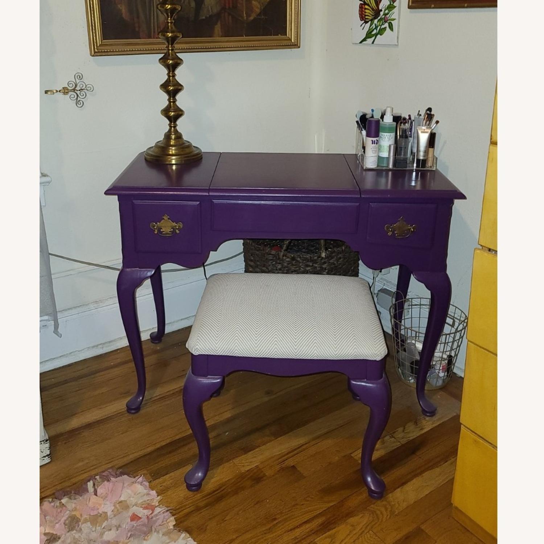 Stanley Furniture Wood Vanity Desk - image-1