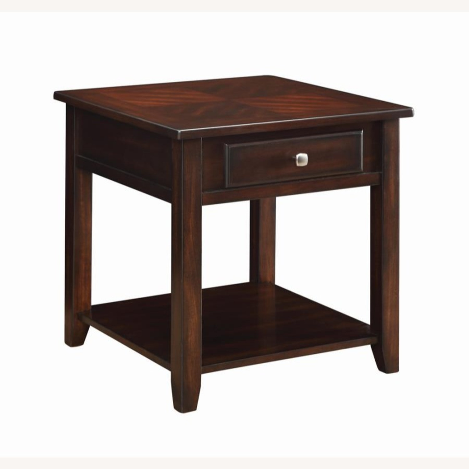 End Table In A Rich Warm Walnut Finish - image-0