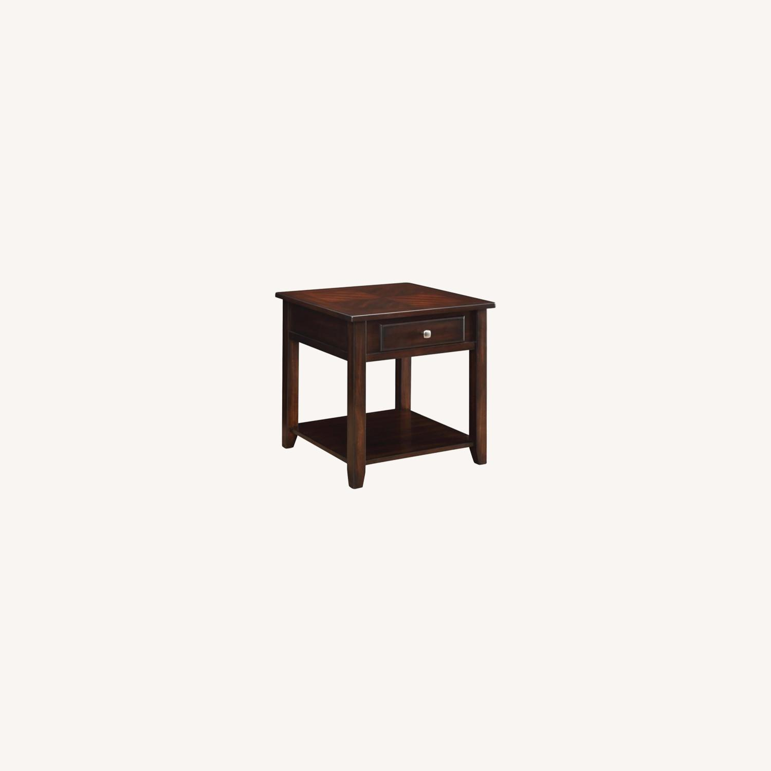 End Table In A Rich Warm Walnut Finish - image-4
