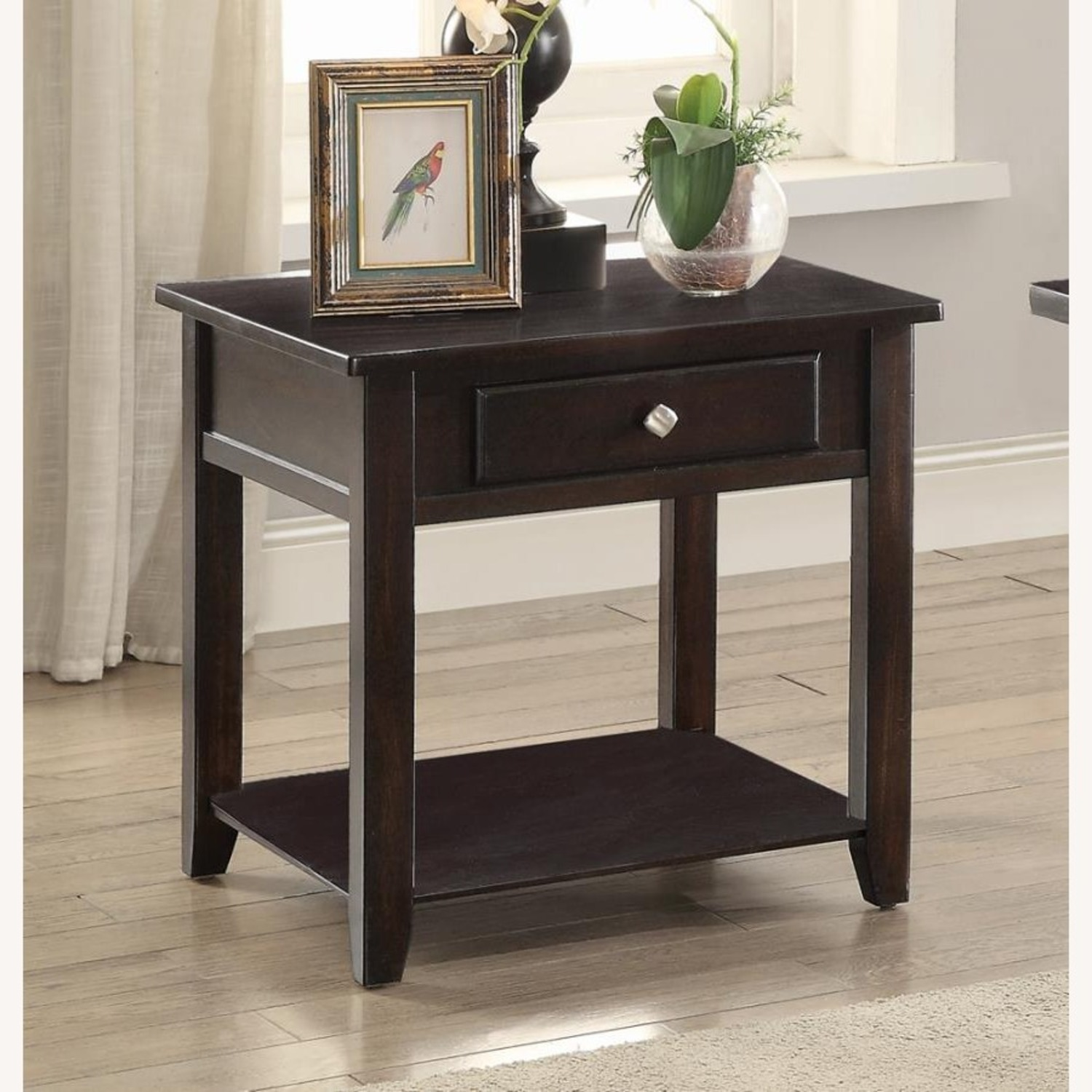 End Table In A Rich Warm Walnut Finish - image-1