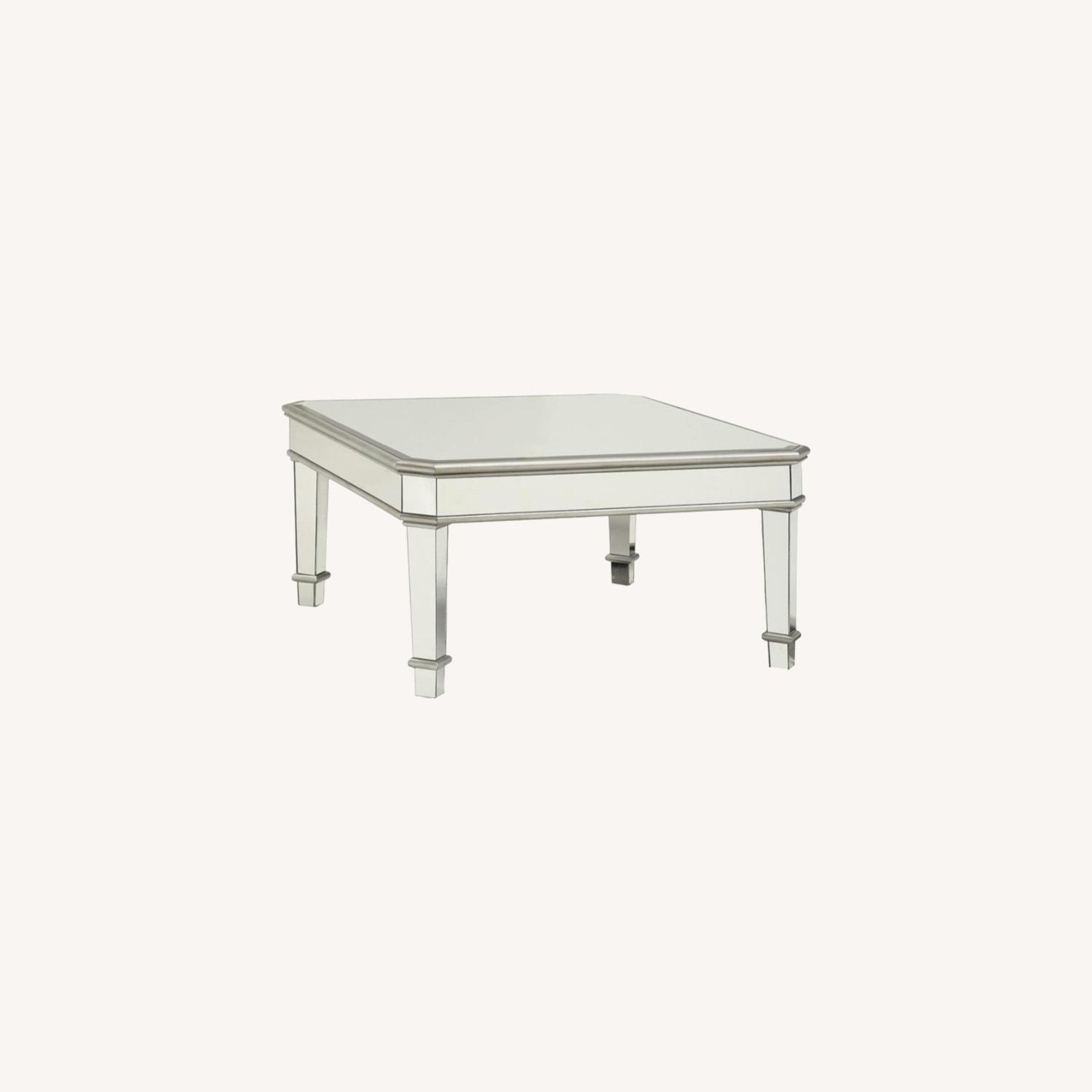 Coffee Table In Silver W/ Mirror Lined Surfaces - image-3