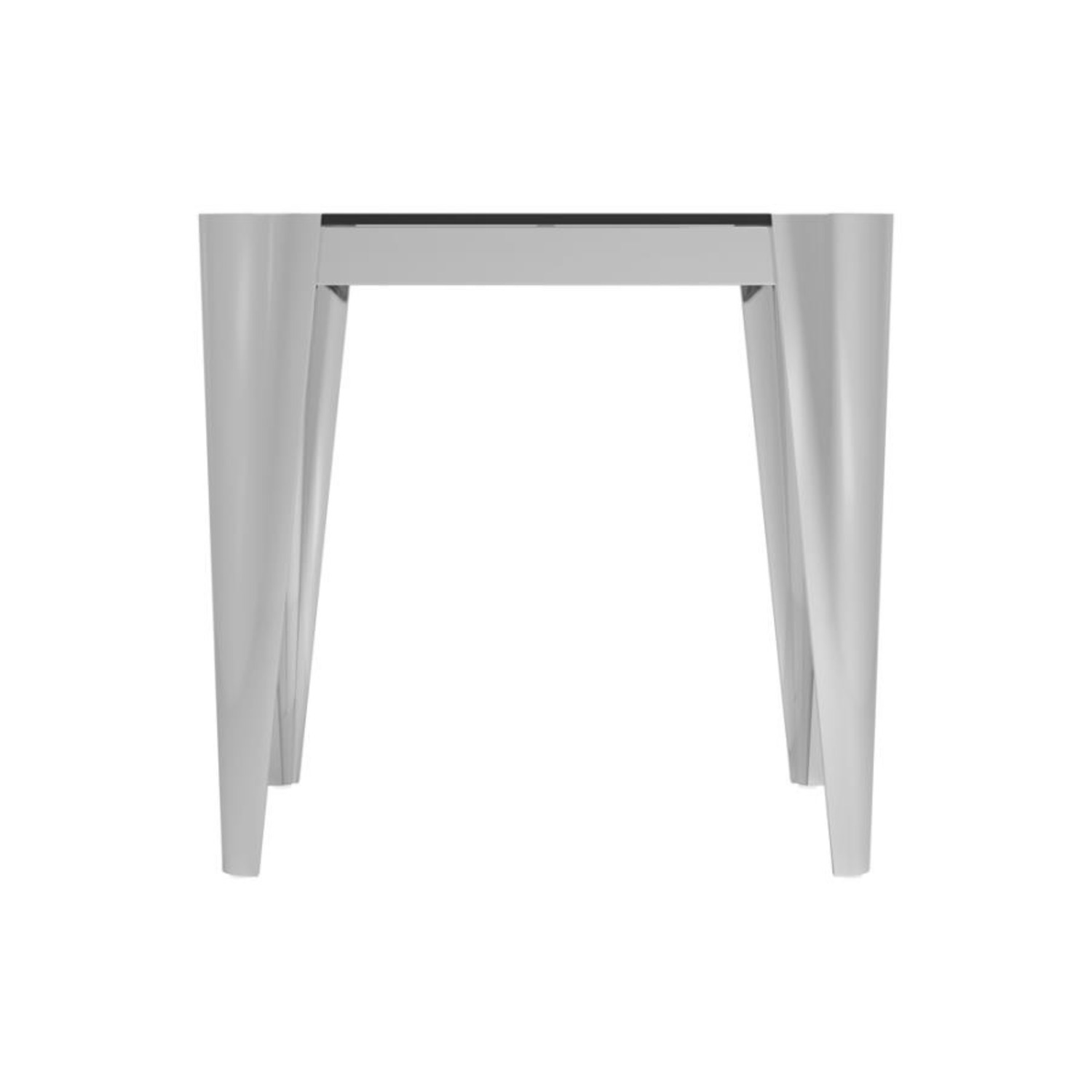 End Table In Silver W/ Grey Tempered Glass Top - image-2