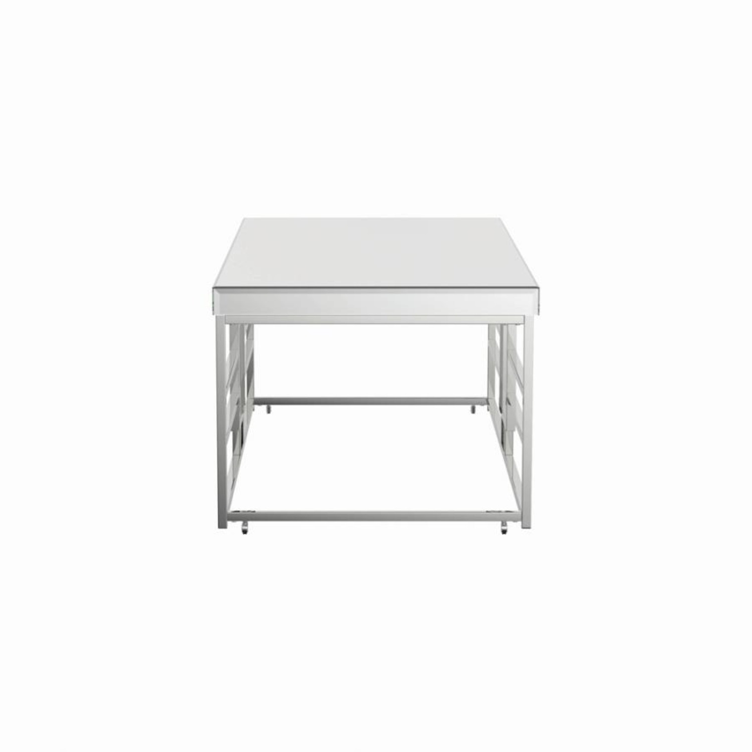 Modern Coffee Table In Chrome Finish Frame - image-2
