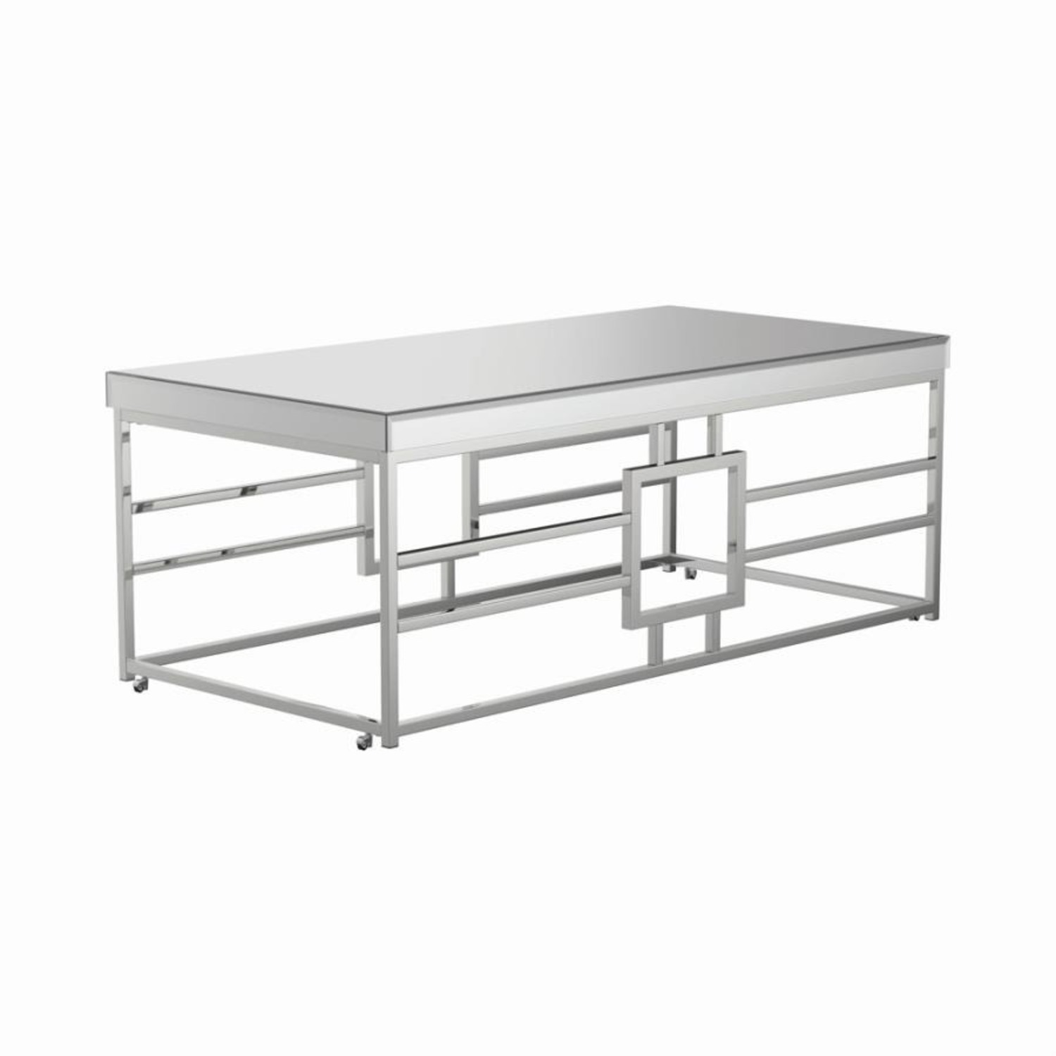 Modern Coffee Table In Chrome Finish Frame - image-0