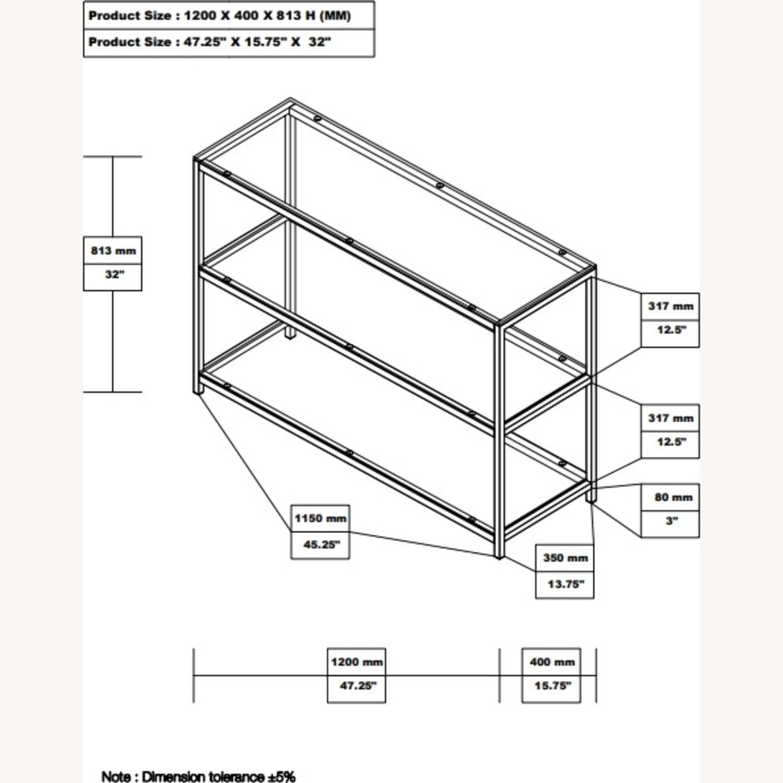 Modern Sofa Table In Black Nickel Finish - image-5