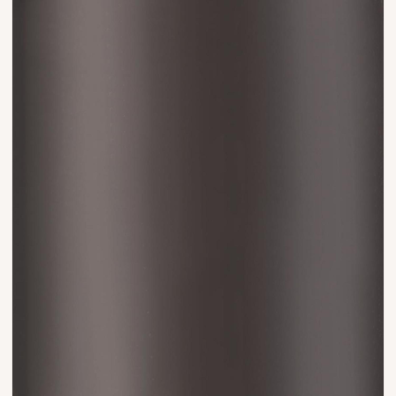 Modern Sofa Table In Black Nickel Finish - image-2