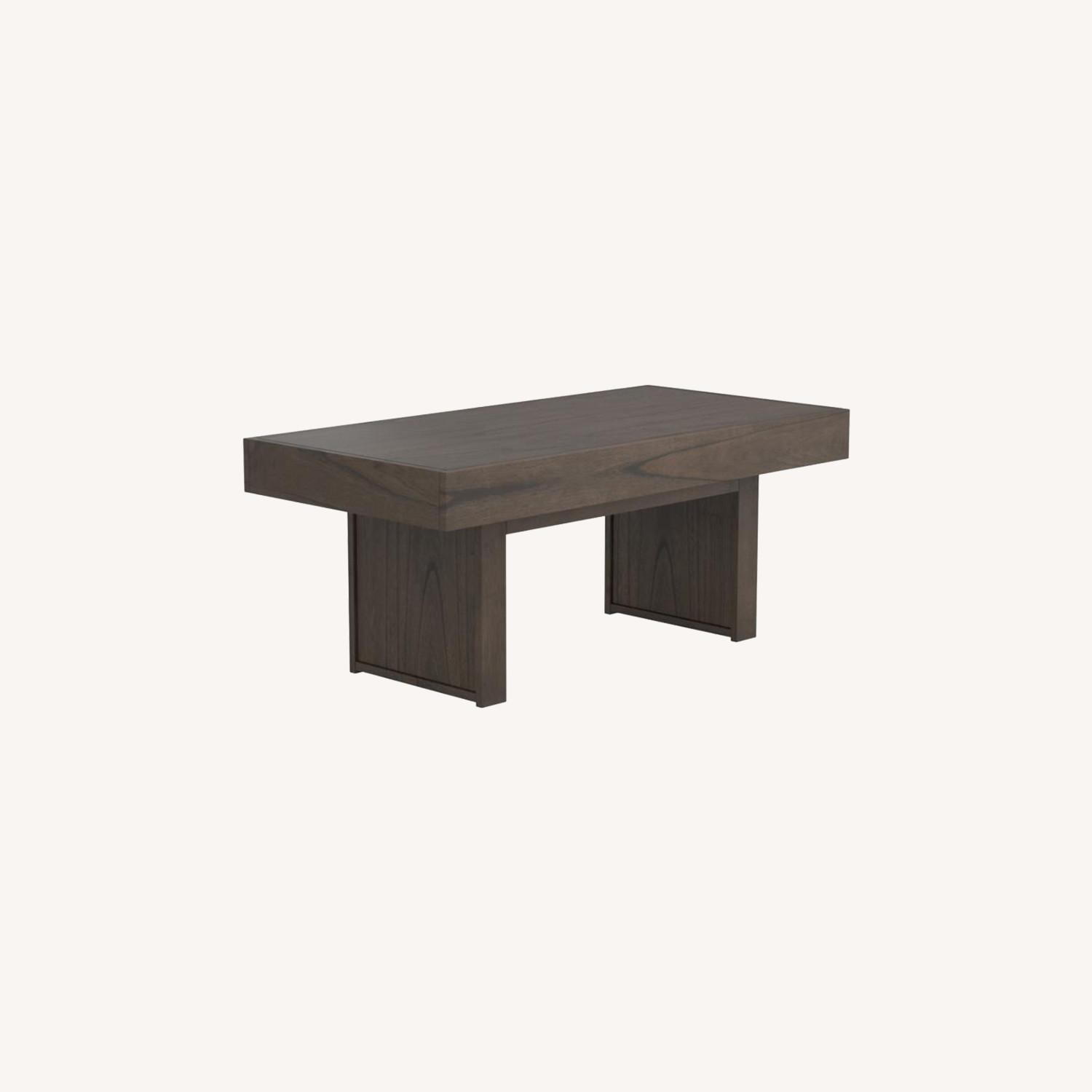 Coffee Table In Wheat Brown Finish - image-7
