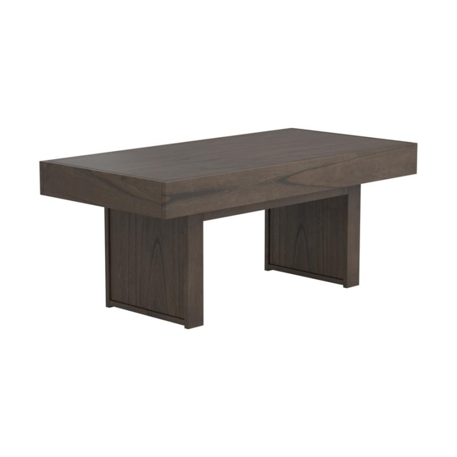 Coffee Table In Wheat Brown Finish - image-0