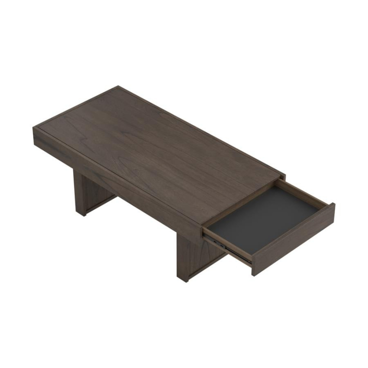 Coffee Table In Wheat Brown Finish - image-5