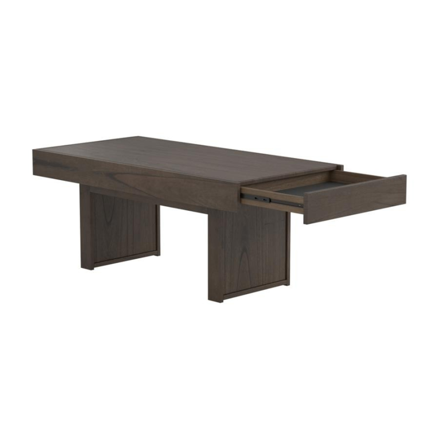 Coffee Table In Wheat Brown Finish - image-4