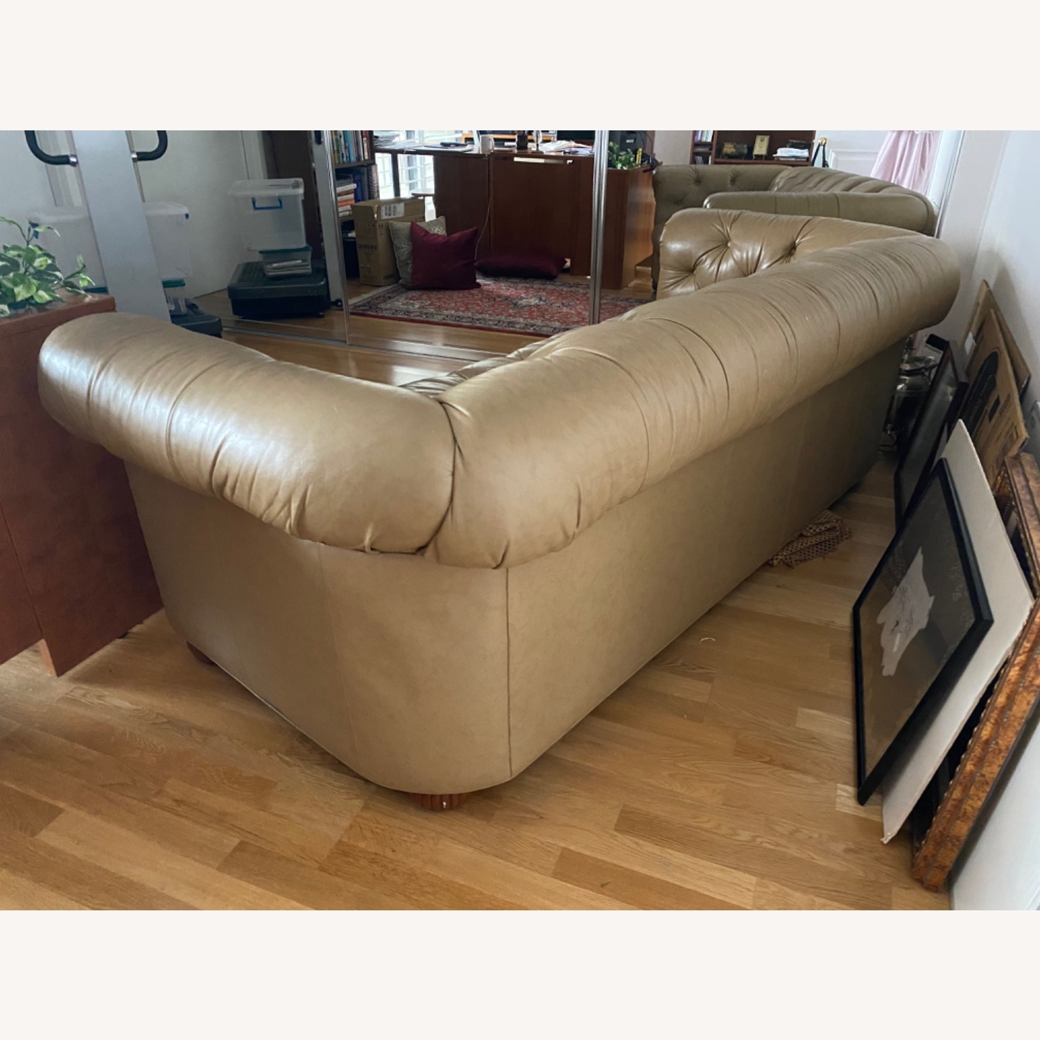 Beige Chesterfield Couch - image-3