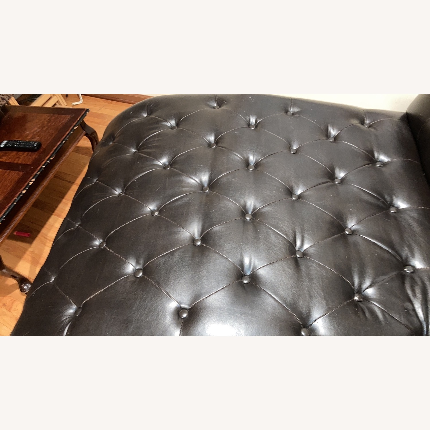 Raymour & Flannigan Leather Chaise - image-7