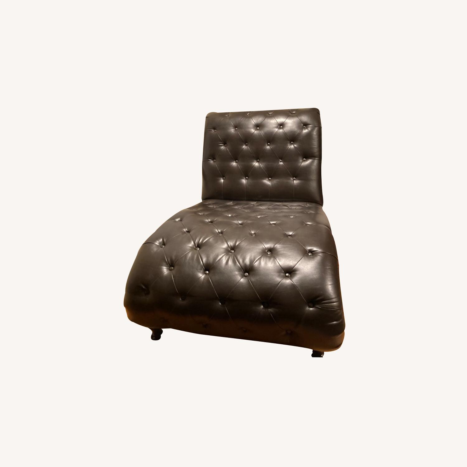Raymour & Flannigan Leather Chaise - image-0