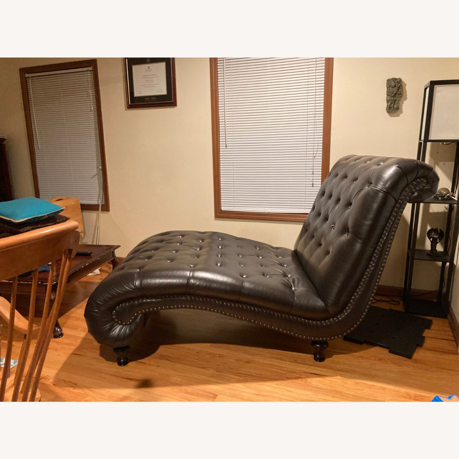 Raymour & Flannigan Leather Chaise - image-2