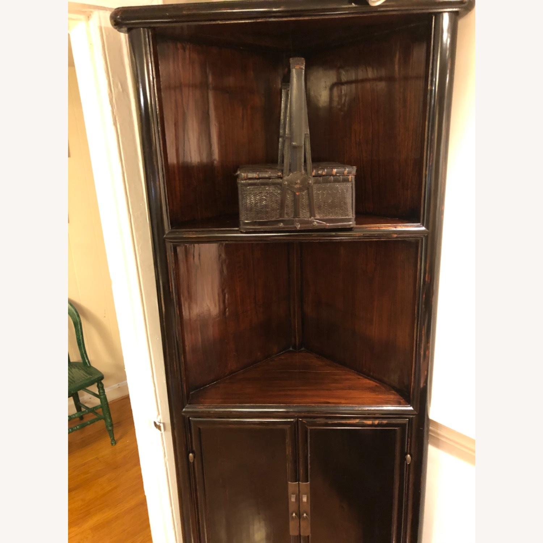 Refurbished Antique Black Corner Cabinets/Shelves - image-5