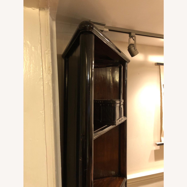 Refurbished Antique Black Corner Cabinets/Shelves - image-4