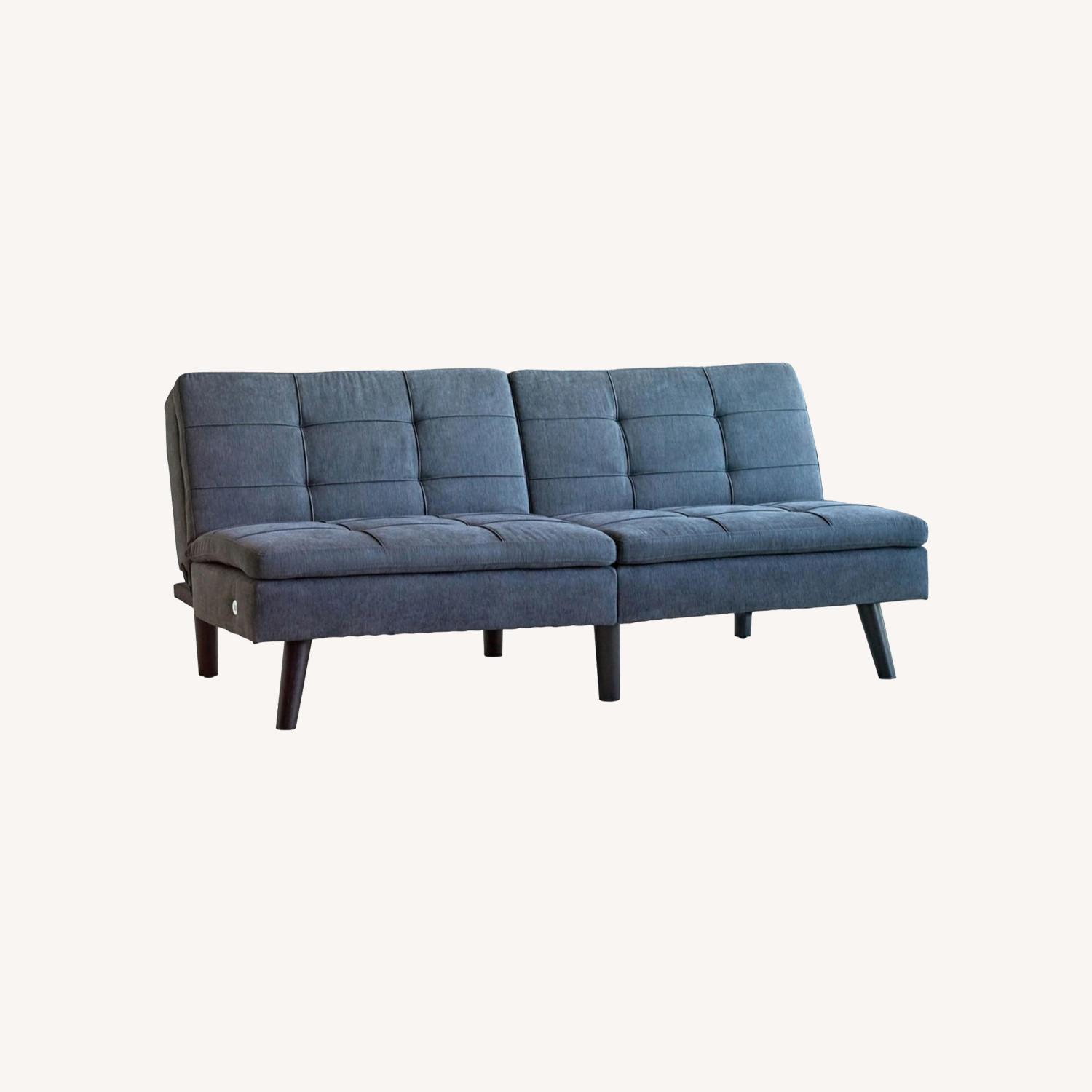 Sofa Bed In Grey Fabric W/ Dual USB Outlet - image-4