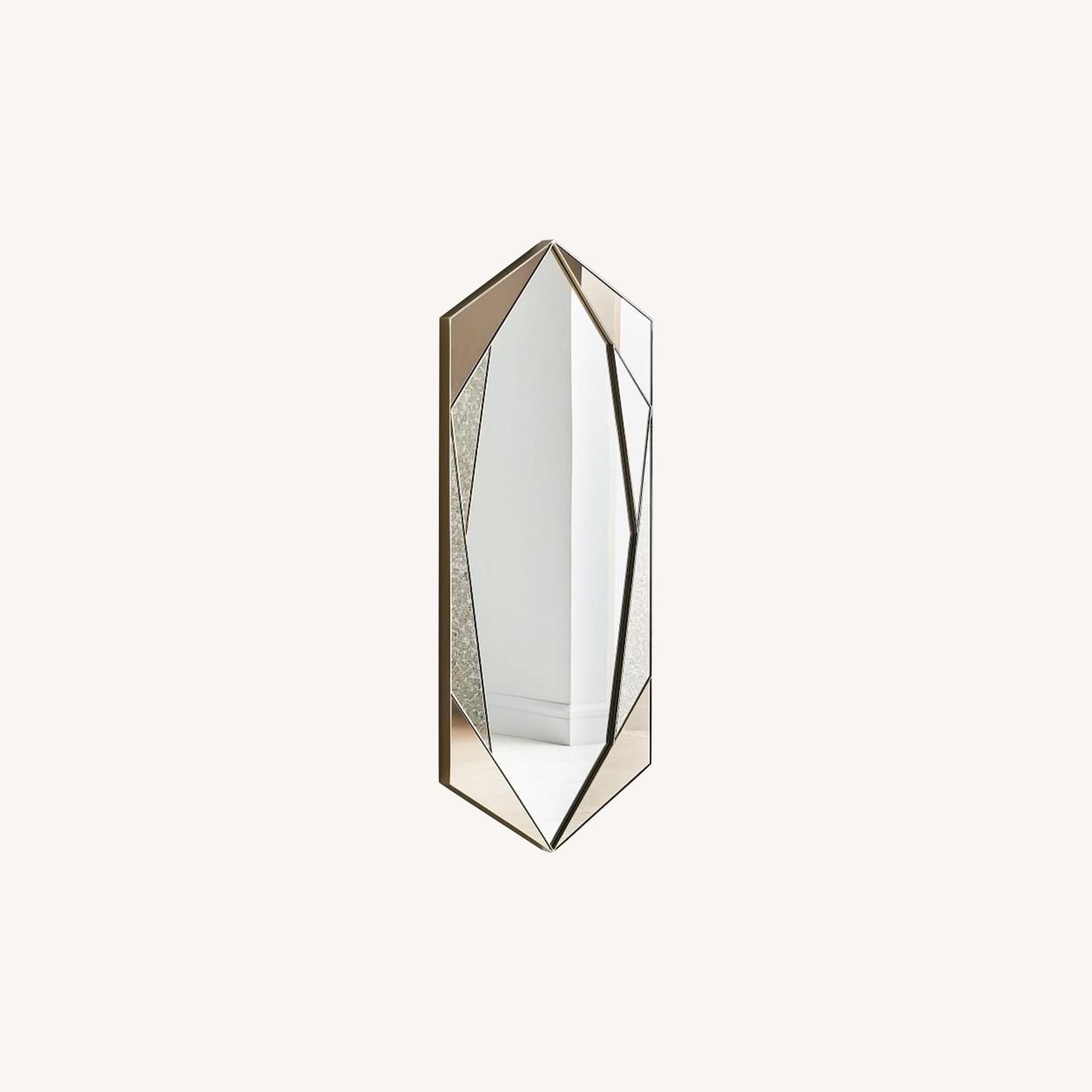 West Elm Faceted Tinted Mirror - image-0