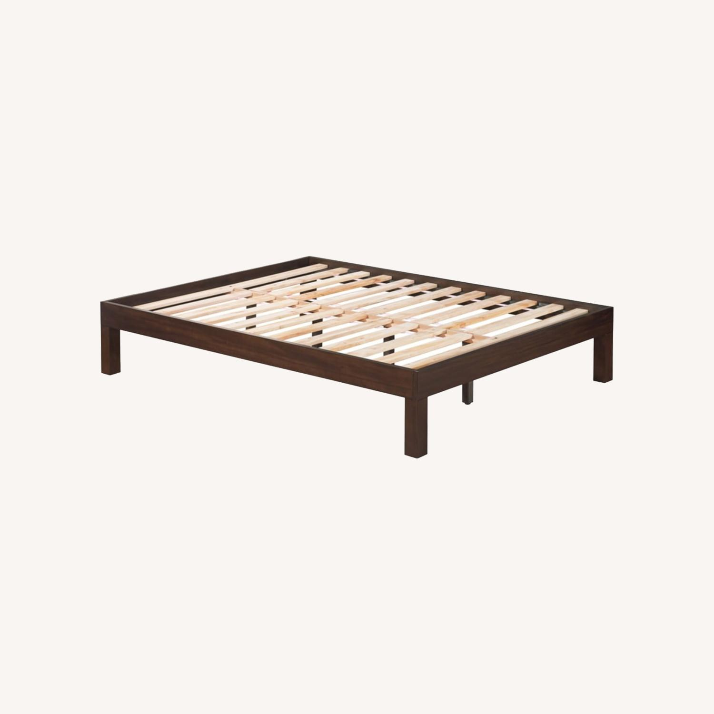 Domusindo Solid Mahogany Brown Platform Bed - image-0