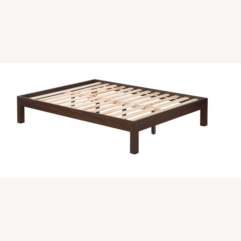 Domusindo Solid Mahogany Brown Platform Bed - image-3