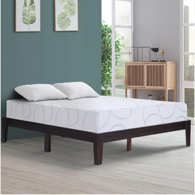 Domusindo Solid Mahogany Brown Platform Bed - image-4