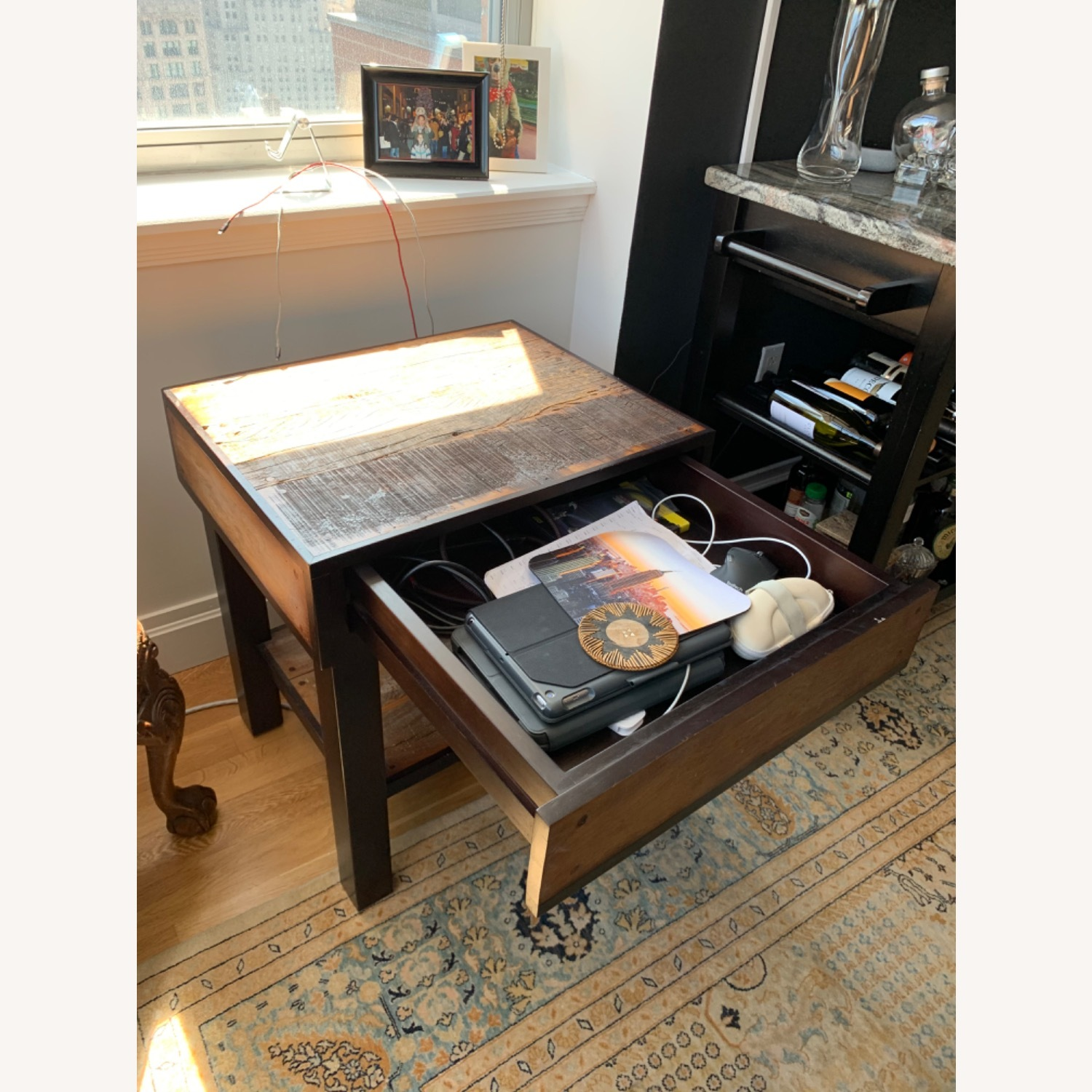 ABC Carpet and Home Wooden End Table - image-2